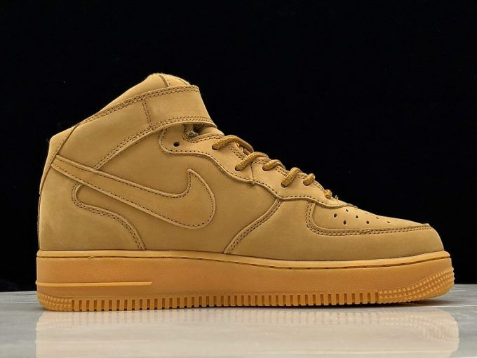 2018 Nike Air Force 1 Mid 07 Prm Qs Flax Wheat Shoes 1 Sneakers