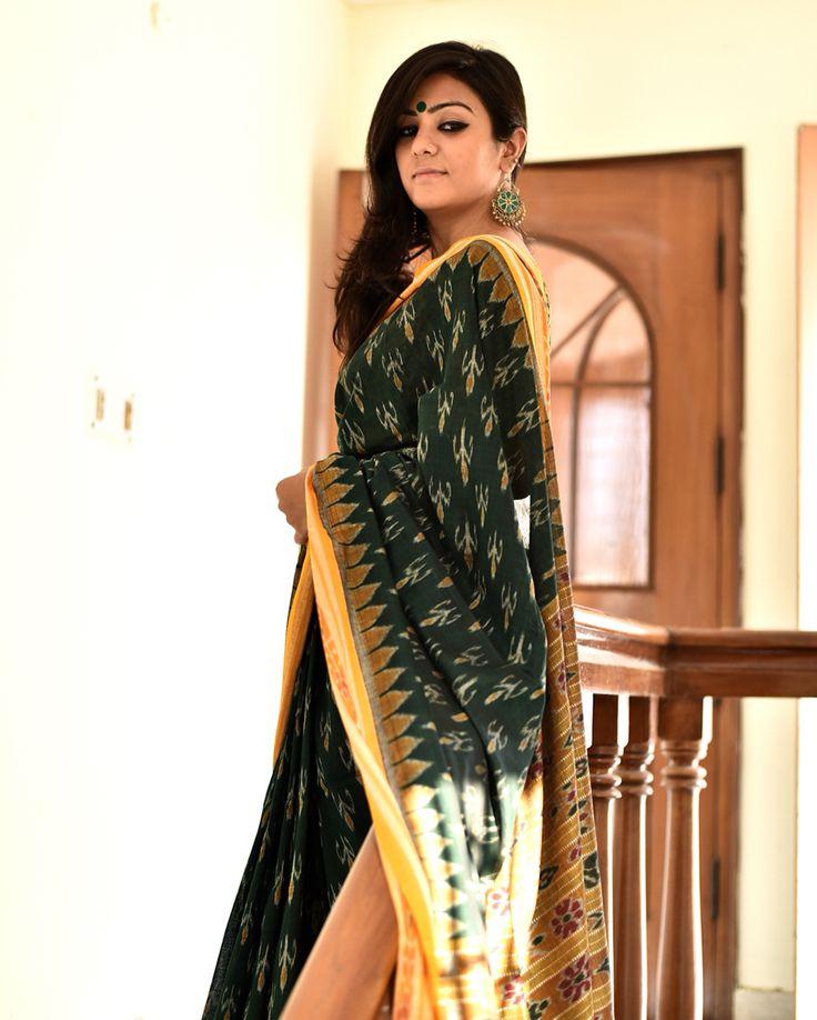 Ikkat woven sambalpuri sari