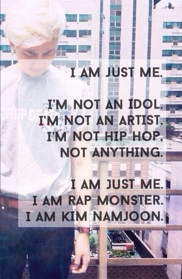 I love him KIM NAMJOON FIGHTING ❤️ /// rap monster quote song mhm