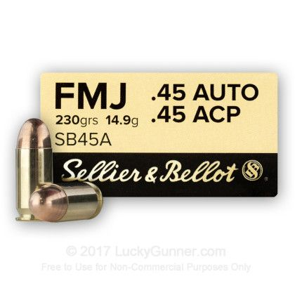 Image 1 of 45 ACP Ammo from Sellier & Bellot