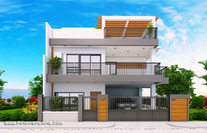 Arabella Three Bedroom Modern Two Storey With Roof Deck Mhd 2019039 Pinoy Eplans In 2020 2 Storey House Design Duplex House Design Bungalow House Design