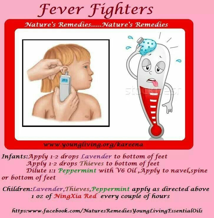 Essential oils for fever in infants / babies and kids / children/ little ones!