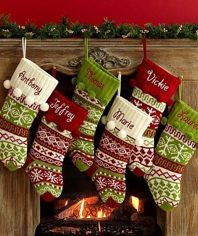 Personal Creations Knit Argyle Snowflake Design Stocking