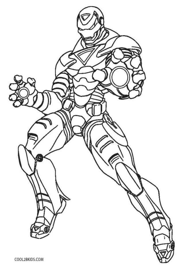 42 Coloring Page Iron Man   Page de coloriage, Coloriage ...