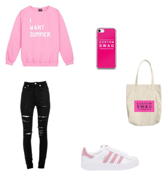 Bez tytułu #85 by wiki208 on Polyvore featuring moda, Yves Saint Laurent and adidas Originals