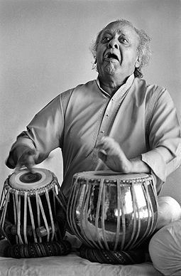 Raghu Rai - Ustad Allah Rakha @ Music Maestros: Photographs by Raghu Rai | StoryLTD.com | #Indianart #Photography #StoryLTD