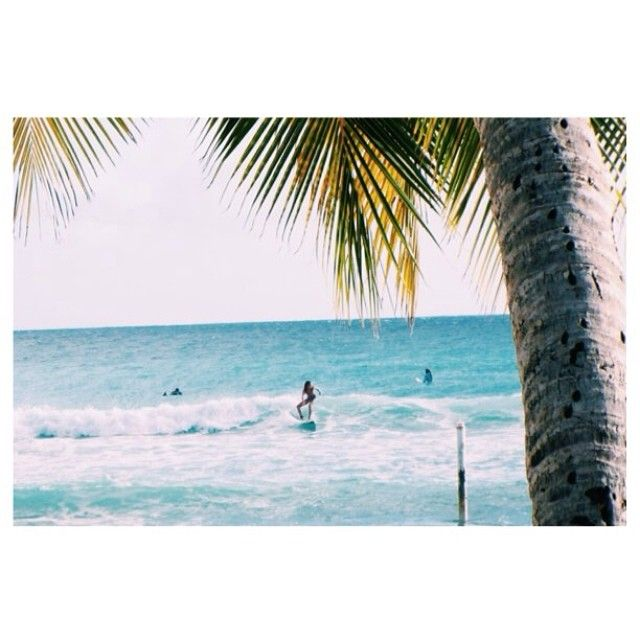 Surfing in Barbados....who wouldn't want to?