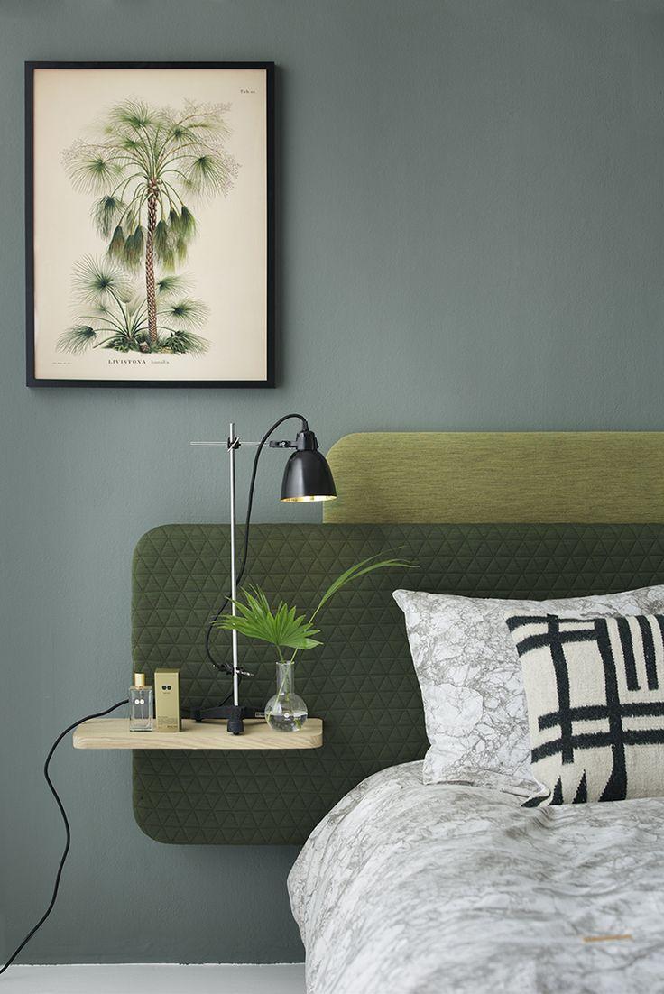 Layer It headboards designed by Anne Boysen for Bent Hansen. Styling: Eckmann Studio. Photo: Bjarni B. Jacobsen. #layerit #headboard #bedroom #soveværelse #kemikaze #indretning #green