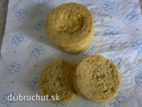 Fotorecept: Rýchly otrubový chlebík z mikrovlnky
