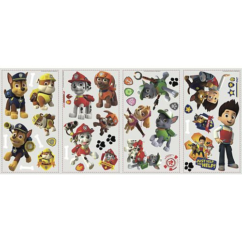 Paw Patrol Peel and Stick Wall Decals