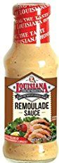 Louisiana remoulade starts with a mayo base, but then adds ingredient after ingredient to form a reddish complex sauce that's creamy, tart, and spicy. Traditionally served with seafood—great with shrimp, crab cakes, and fried fish fillets—my absolute favorite thing with remoulade would be fried dill pickles. Those salty, sour crunchy chips are a perfect pairing in my book.