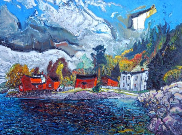 Red Barns Conception Harbour, 36x48