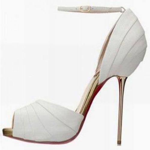 Christian Louboutin Armadillo Bride 120mm Sandales Blanc