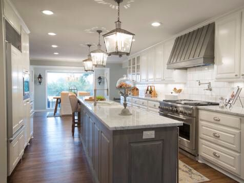 Gray And White Kitchen And Skinny Island Home Sweet Home Pinterest Gray And White