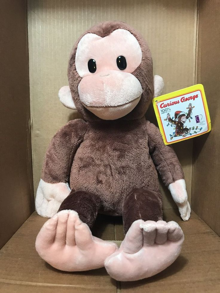"""16"""" Curious George Plush Monkey Stuffed Animal Kohls Cares Applause with tag GL3 #Applause"""