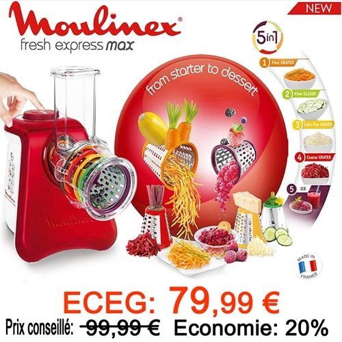 ECEG Promotions Comite entreprise TEFAL, Site pour les comites d entreprise - FRESH EXPRESS MAX 5 EN 1 MOULINEX DJ812510