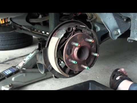 ▶ Replacing Drum Brake Shoes Part 1 - EricTheCarGuy - YouTube