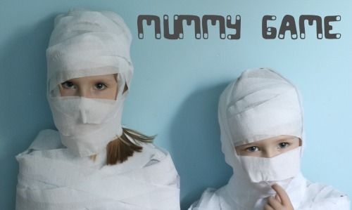 Mummy Game: Have kids form pairs. One party goer gets to be the mummy, one gets to be the wrapper. Start wrapping and the first team to completely wrap their mummy wins.