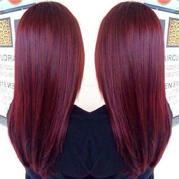 Magenta burgundy wine red hair color