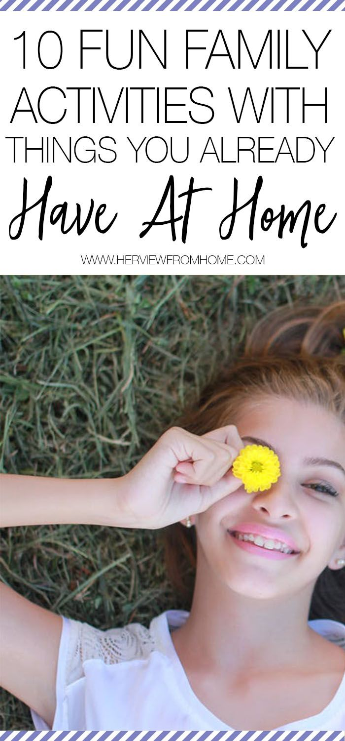 Instead of heading out to buy new toys I decided to track down some cheap and easy summer fun. I wanted activities that don't require running to the store to buy anything, and are quick to put together. Turns out the house is bursting with things to do, if you know where to look. Here are 10 fun family activities with things you already have at home.