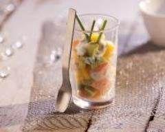 Verrines de tartare de saumon, mangue et avocat Ingrédients