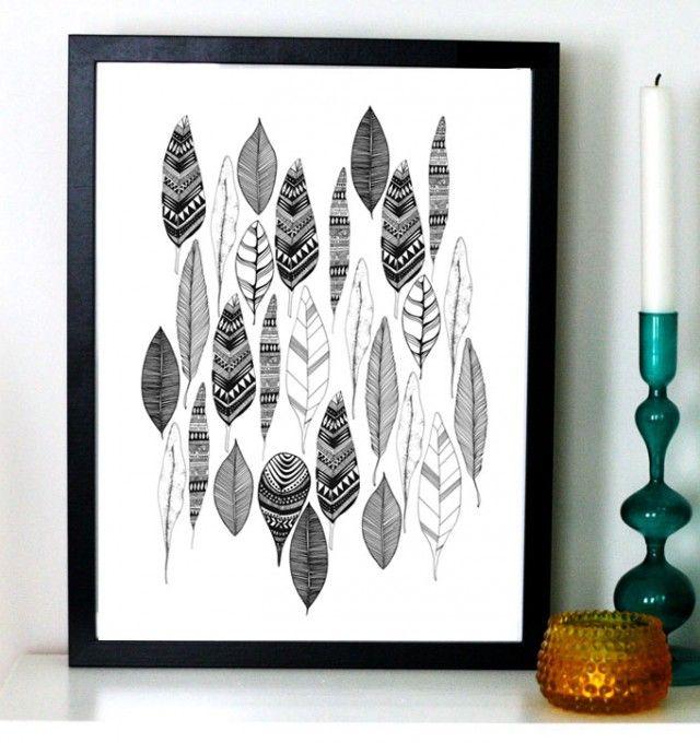 Autumn leaves, 21x30 cm - Illustration - TAVLOR & POSTERS