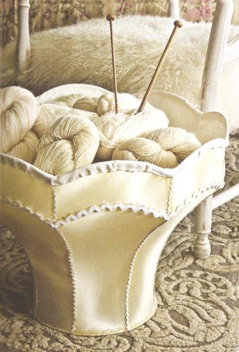 Creamy white yarn