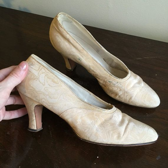 Antique edwardian/teens shoes  size 7 aa by GildedFeathers on Etsy