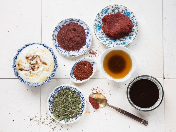An all-purpose Turkish spice blend, Baharat, can be used for everything you want to throw on the grill. We like the spearmint in this.
