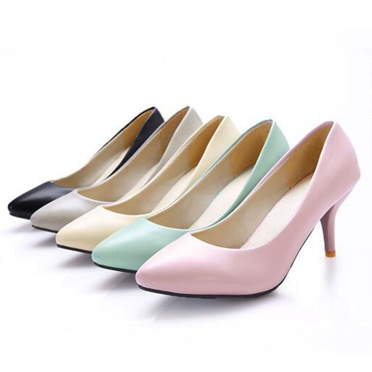 12.93$  Watch now - http://ali3bw.shopchina.info/1/go.php?t=32805319074 - Women's leather med heels 2017 New High Quality Shoes Classic Pumps Shoes for Office Ladies Shoes plus size 35-43  #magazine