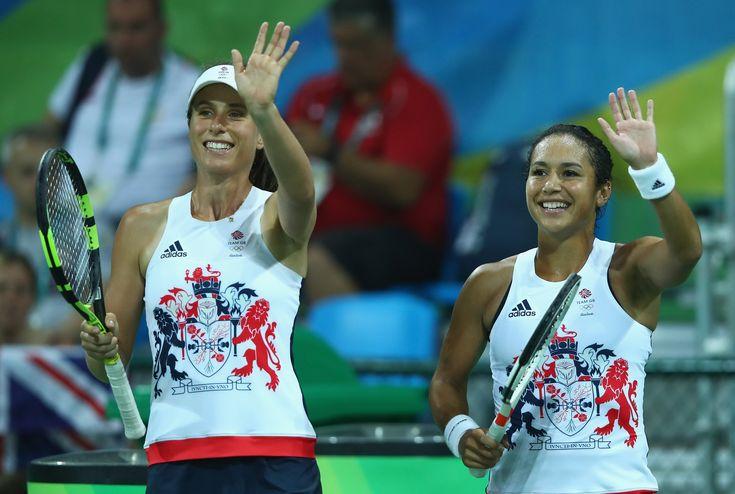 Team GB's female Tennis players: Johanna Konta and Heather Watson