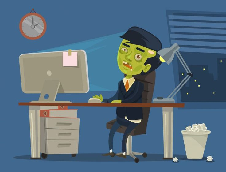 3 Ways To Get Work Done Even If You Feel Like The Office Zombie. ROSI