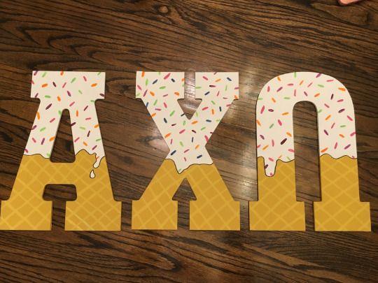 ice cream letters - YUM!
