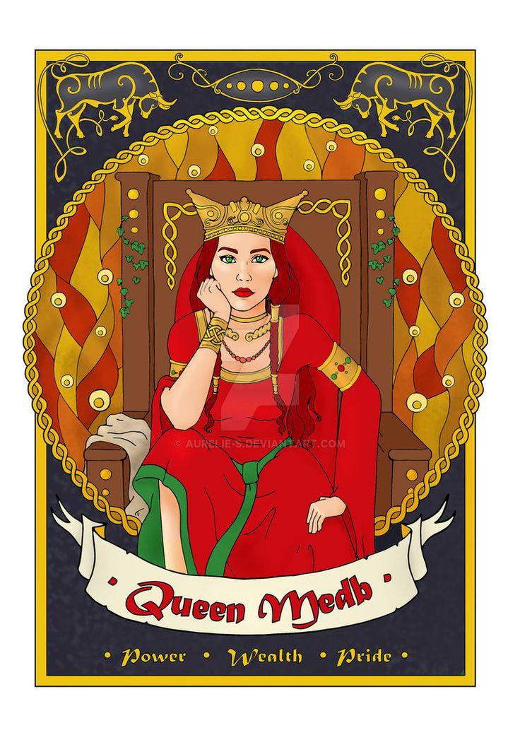 Queen Medb - coloured page by Aurelie-S.deviantart.com on @DeviantArt