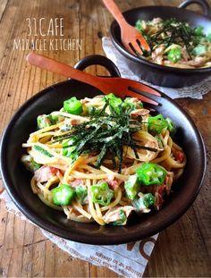 ツナとオクラの梅マヨ醤油スパサラダ | 簡単*夏野菜*パスタサラダ | mizuki
