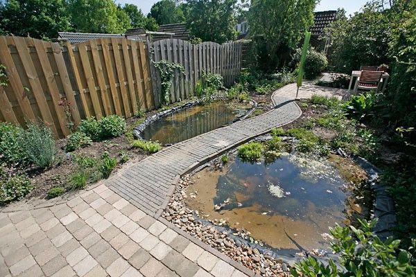 Ideeen kleine tuin met vijver google zoeken tuin for Vijverrand maken
