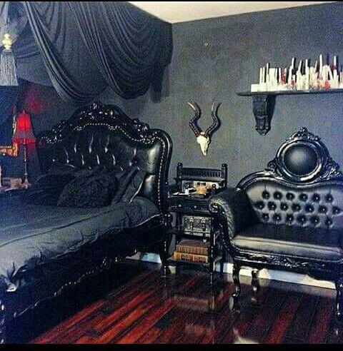 Die besten 25+ gotisches Schlafzimmer Dekoration Ideen auf - design mobel eine dunkle gothik einrichtung