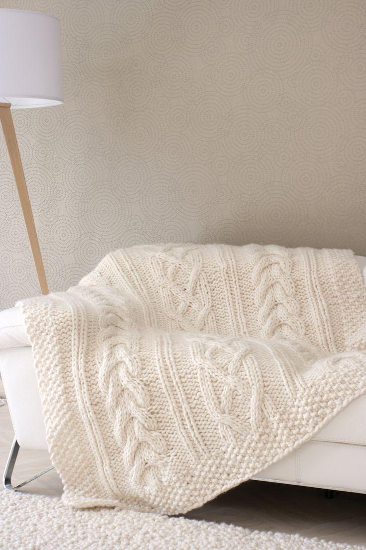 Les 25 meilleures id es de la cat gorie couverture en - Plaid en laine tricotee ...