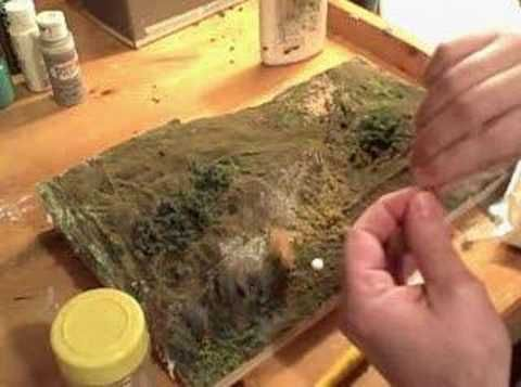 Diorama making: Tufts of Grass tutorial - YouTube