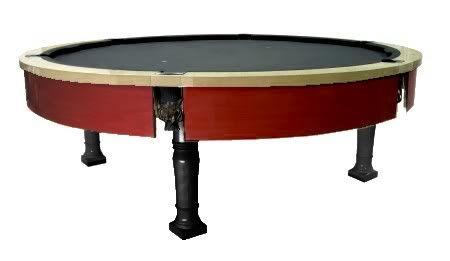 colorcustom pool table, round pool table, custom round pool table, nightlife, billiards, hollywood, las vegas (c) LaurCrist