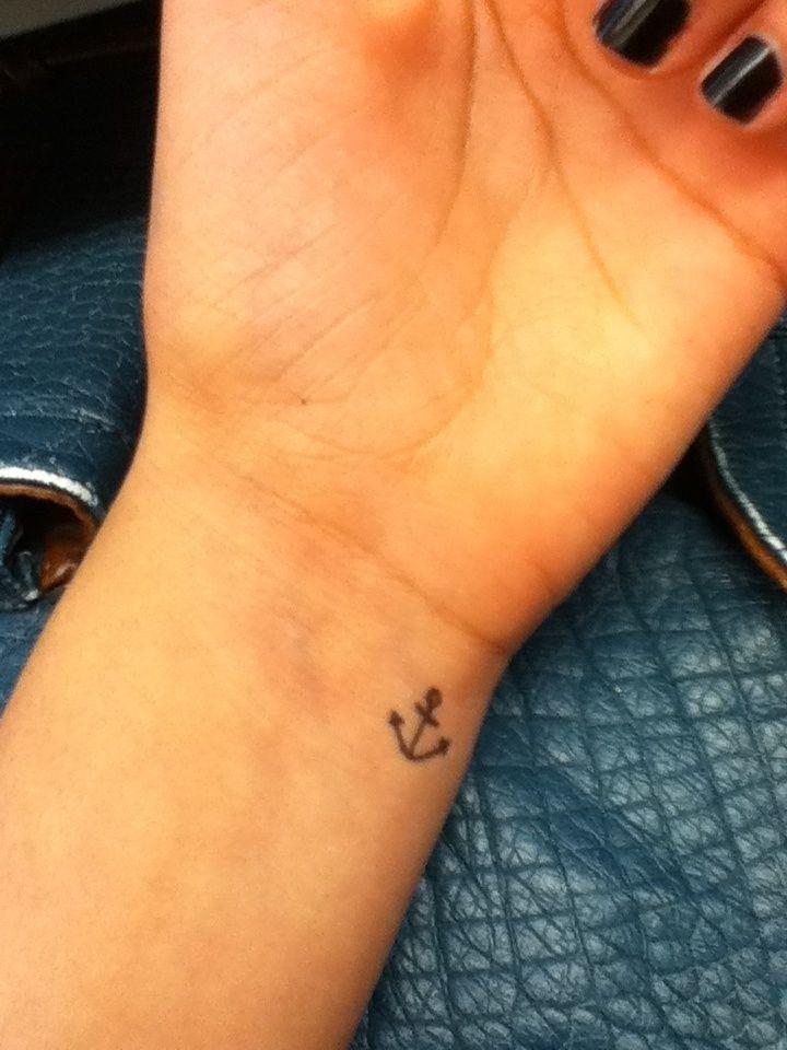 small anchor tattoo | Tattoos | Pinterest