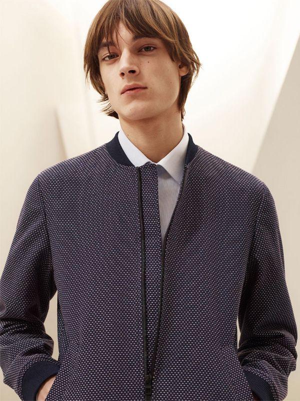 Zara Men's Tailoring Edit - TIMUR 05 - Tailored bomber jacket, striped shirt