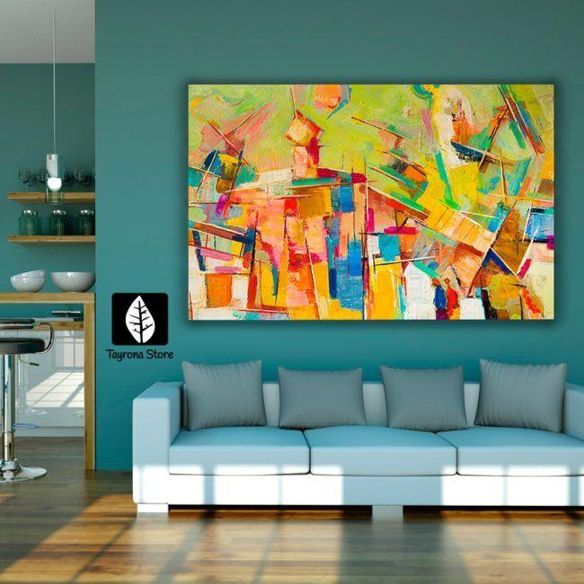 Cuadro Decorativo Tayrona Store Para Sala o Alcoba Pintura Abstracta