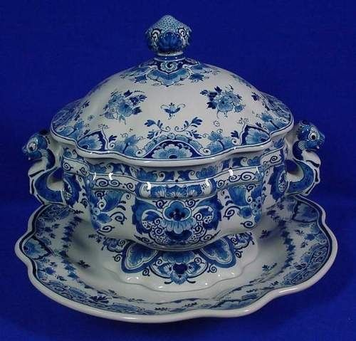 Tableware Center Piece Royal Delft Blue