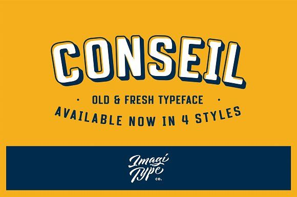 Conseil Typeface by Imagi Type Co. on @creativemarket