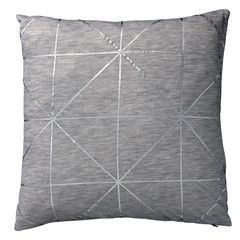 Cushion - Grid Print - Metallic Silver - Shut the Front Door! online