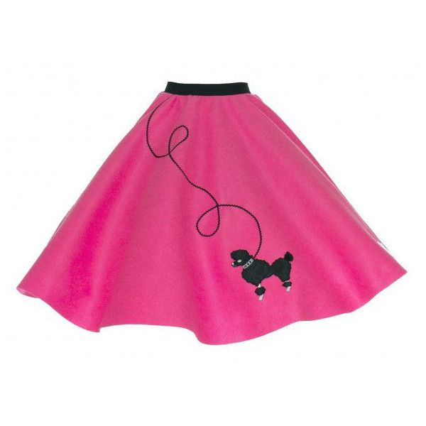 Adult Hot Pink 50'S Poodle Skirt (2,285 INR) ❤ liked on Polyvore featuring skirts, light pink, women's clothing, checked skirt, checkered skirt, elastic waistband skirt, cocktail skirt and long pink skirt