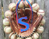The Original Baseball Wreath - With Glove and Letter