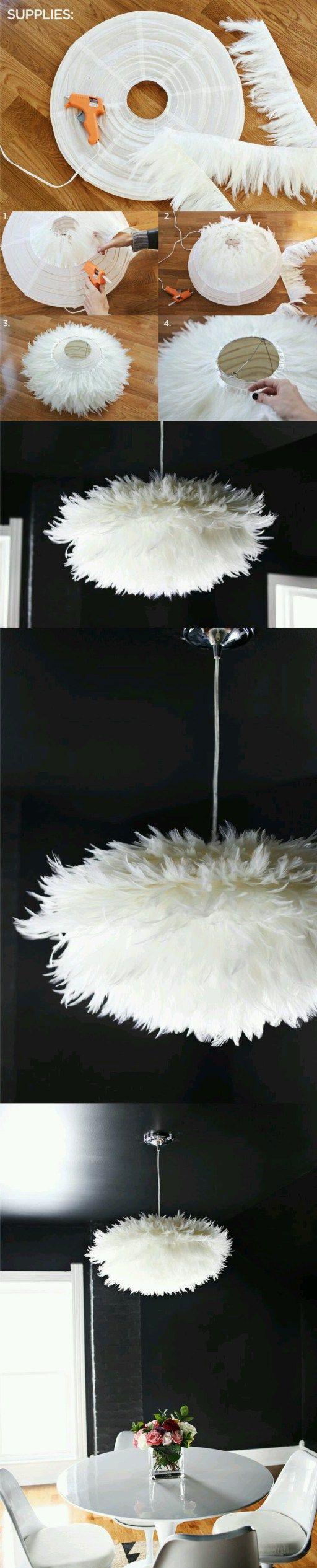 les 25 meilleures id es de la cat gorie lustre plume sur. Black Bedroom Furniture Sets. Home Design Ideas