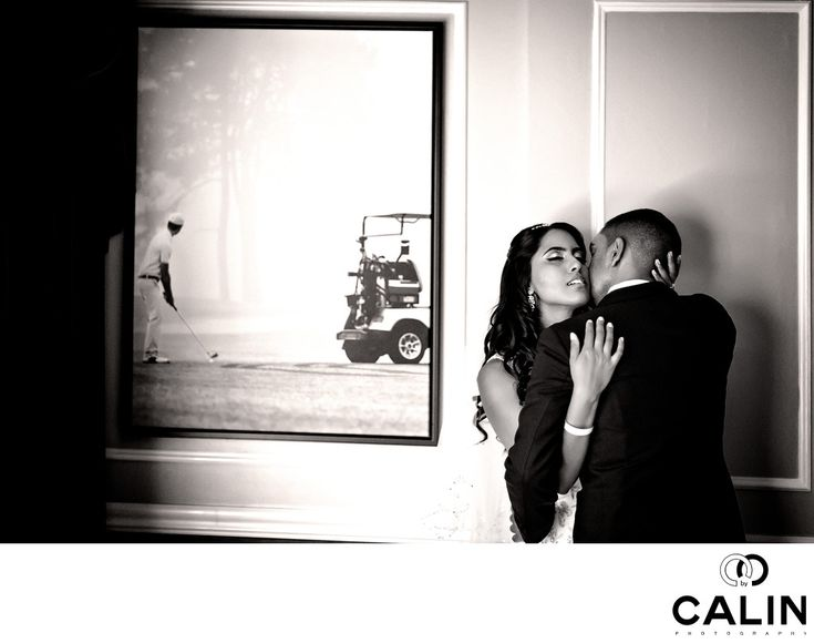 Intimate Moment Groom Kissing Bride's Neck - Toronto Wedding Photographer - Photography by Calin